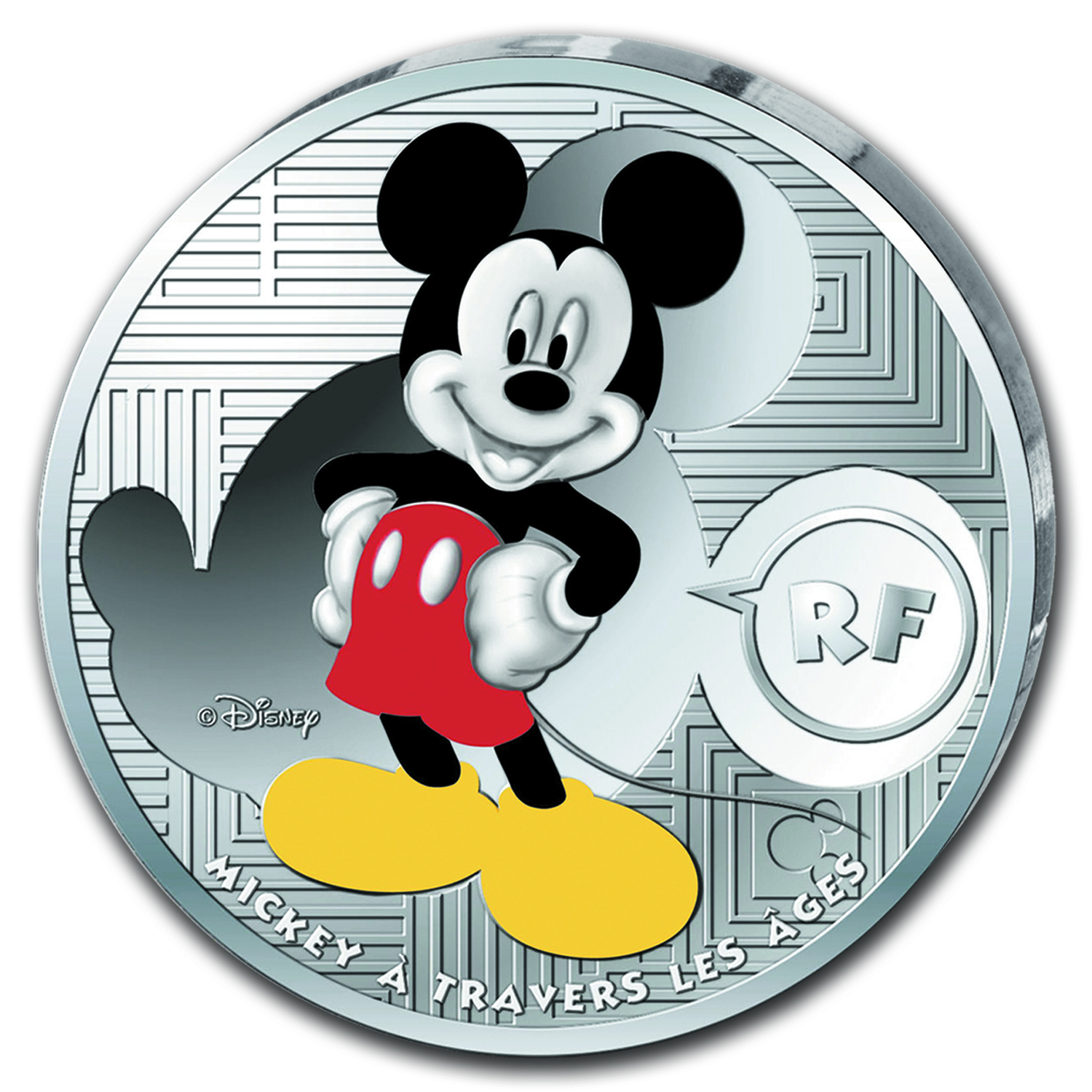 2016 France Silver €10 Mickey Through the Ages Proof